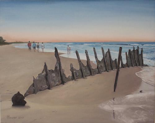 Dicky-Beach-Wreck-Evening-Stroll